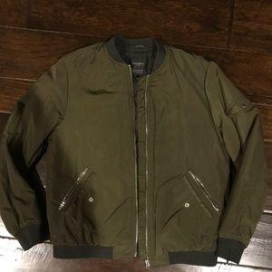 Zara Army Green Bomber Jacket